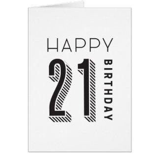 幸せな21誕生日 カード