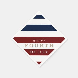 幸せな7月4日のパーティ の独立記念日 スタンダードカクテルナプキン