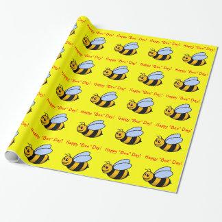 """幸せな""""蜂""""日のギフト用包装紙 ラッピングペーパー"""