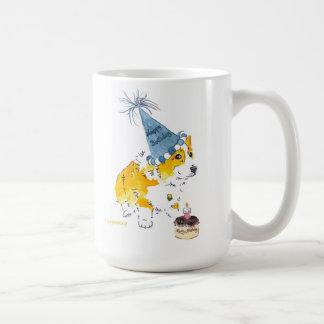 幸せなB'Dayのコーギーのマグ コーヒーマグカップ