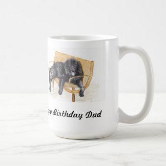 幸せなBirthdのパパのニューファウンドランド犬のマグ コーヒーマグカップ