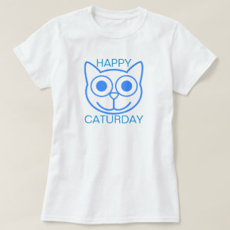 幸せなCaturday Tシャツ