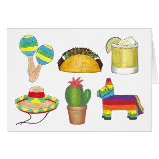 幸せなCinco deメーヨーのメキシコフェスタのパーティー カード