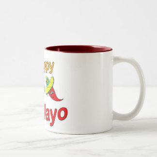 幸せなCinco Deメーヨー ツートーンマグカップ