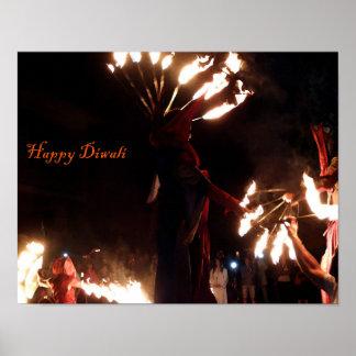 幸せなDiwaliの価値ポスター紙(無光沢) ポスター