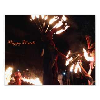 幸せなDiwaliの専門の写真の紙(サテン) フォトプリント