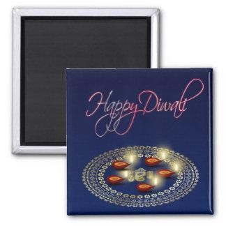 幸せなDiwali Ganesha Rangoli -磁石 マグネット