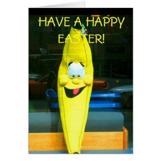 幸せなEASTER-THEの幸せなバナナを食べて下さい カード
