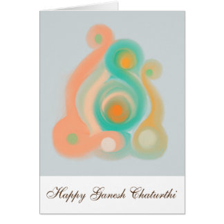 幸せなGanesh Chaturthiの挨拶状 カード