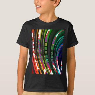 幸せなGoodluckはnライングラフィックアートのギフトを振ります Tシャツ