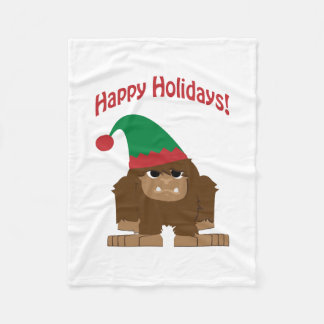 幸せなHokidays! クリスマスビッグフット フリースブランケット