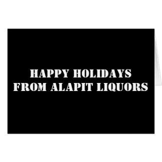 幸せなHOLIDAYSFROM ALAPITのアルコール飲料 カード