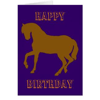 幸せなHorsy誕生日-黄色 カード