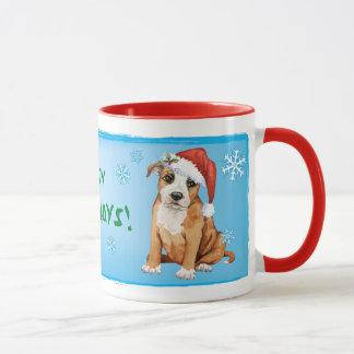 幸せなHowlidayの(犬)スタッフォードのブルテリア マグカップ