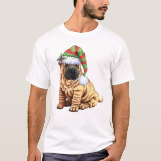 幸せなHowliday Shar-Pei Tシャツ