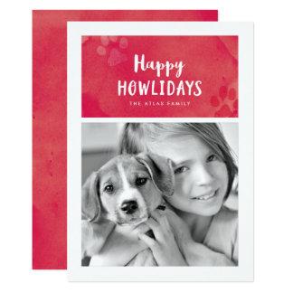 幸せなHowlidaysの休日の写真カード 12.7 X 17.8 インビテーションカード