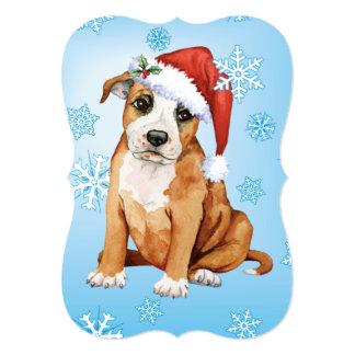 幸せなHowlidaysの(犬)スタッフォードのブルテリア カード