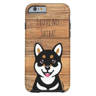 幸せなKuroの柴犬犬のiPhoneの場合