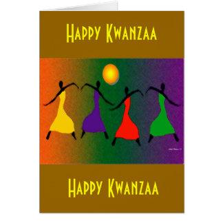 幸せなKwanzaa カード