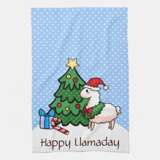 幸せなLlamadays キッチンタオル