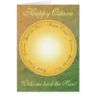 幸せなOstara! 歓迎日曜日! グリーティングカード