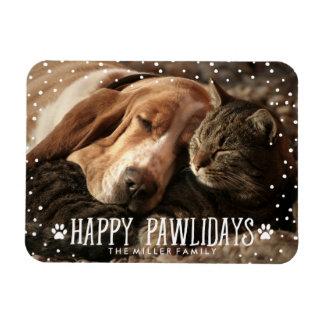 幸せなPawlidays |の休日の写真の磁石 マグネット