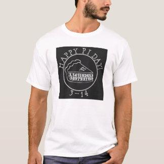 幸せなPi日の黒板パイワイシャツ Tシャツ
