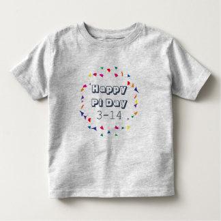 幸せなPi日の3月の3-14日14日数学のテーマ トドラーTシャツ