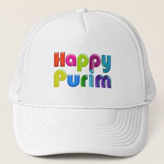 幸せなPURIMのファンキーなトラック運転手の帽子 キャップ