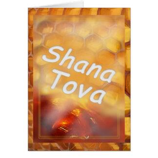 幸せなRosh HaShanaを引くShana-Tovaの蜂蜜 カード