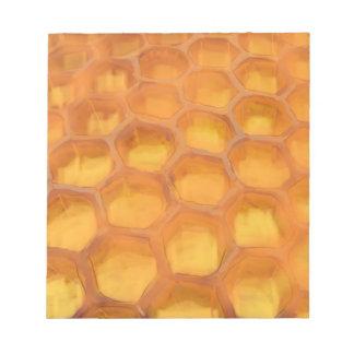 幸せなRosh Hashanahを引くShanah Tovahの蜜蜂の巣 ノートパッド