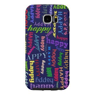 幸せなSamsungは場合に電話をかけます Samsung Galaxy S6 ケース