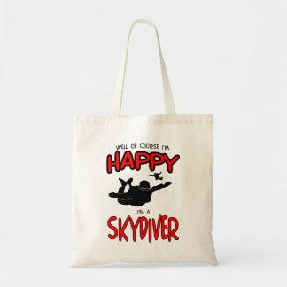 幸せなSkydiver (blk) トートバッグ