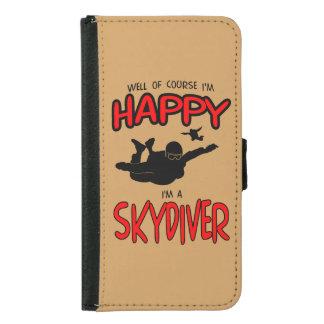 幸せなSkydiver (blk) Galaxy S5 ウォレットケース