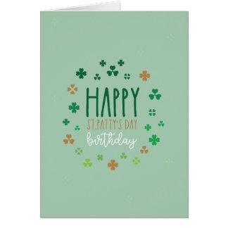 幸せなSt.ハンバーグ日の誕生日 カード