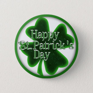 幸せなSt. Patricks日のシャムロック 5.7cm 丸型バッジ
