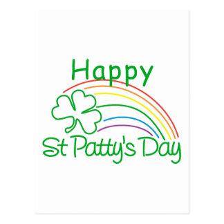 幸せなSt patty's day ポストカード