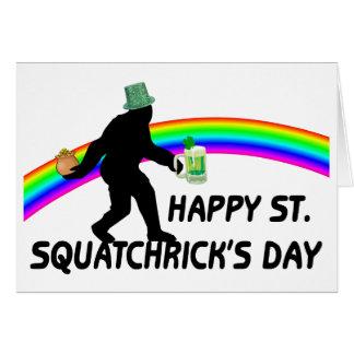 幸せなSt Squatchricks日 カード