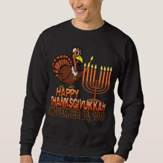 幸せなThanksgivukkah - Thankgivingハヌカー スウェットシャツ