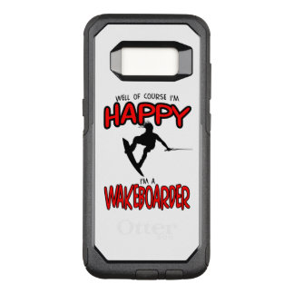幸せなWAKEBOARDER (黒) オッターボックスコミューターSamsung GALAXY S8 ケース