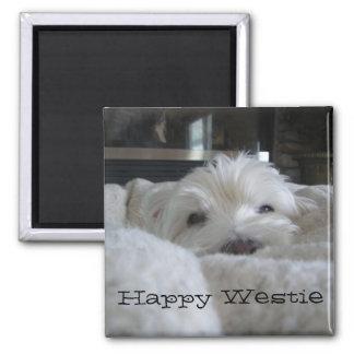 幸せなWestieの写真の磁石 マグネット