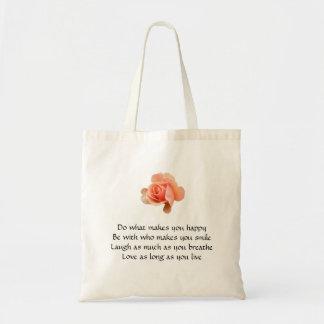 幸せに作るものが-バッグ上がりましたして下さい トートバッグ