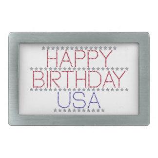 幸せ誕生日米国 長方形ベルトバックル