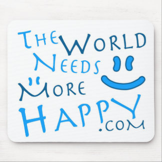 幸せ青い マウスパッド
