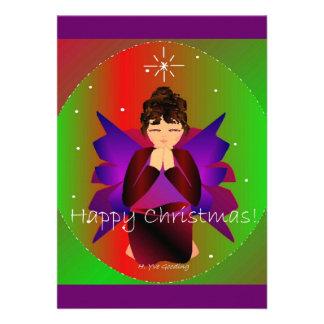 幸せ クリスマス 天使 赤ん坊 女 子 祈ること