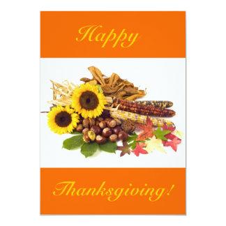 幸せ|感謝祭|ヒマワリ|V 12.7 X 17.8 インビテーションカード
