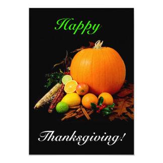 幸せ|感謝祭 12.7 X 17.8 インビテーションカード