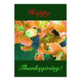 幸せ|感謝祭|I 12.7 X 17.8 インビテーションカード