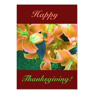 幸せ|感謝祭|II 12.7 X 17.8 インビテーションカード