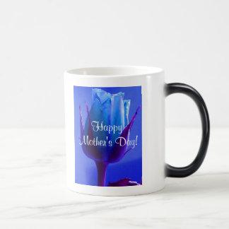 幸せ|母|日|青い|上がりました|IV モーフィングマグカップ